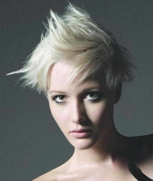 Short Spiky Hairstyle Idea for Women