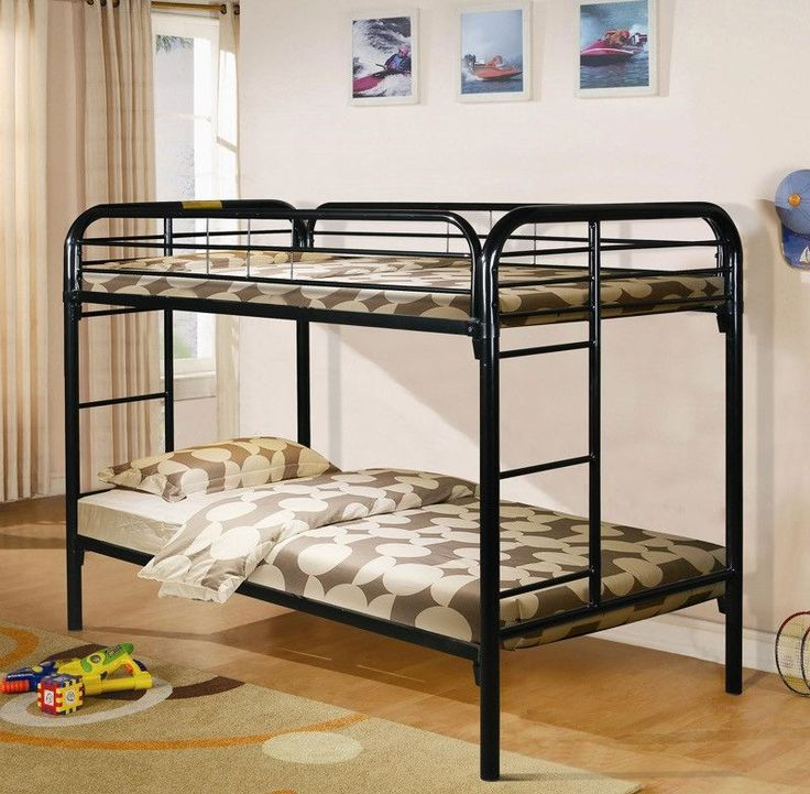 Donco Kids T/T Metal Bunk Bed Black 4501-3BK