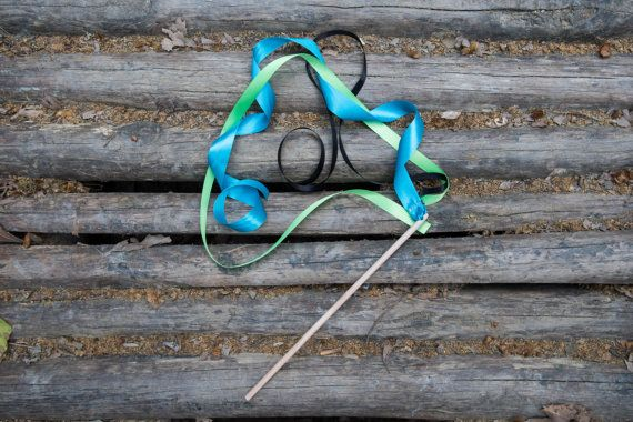 8 Ribbon Wands  Birthday Party Favors  Birthday by beigebois