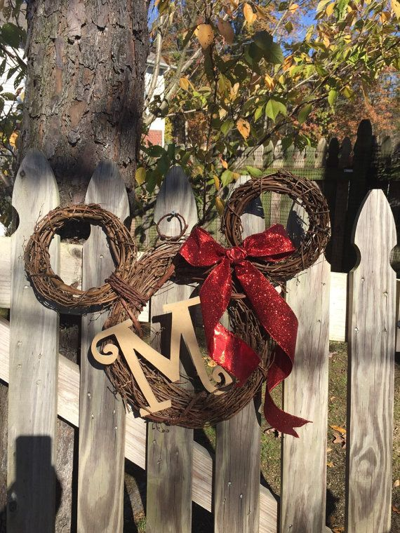 Mickey Mouse inspired  wreath disney by WonderlandsWreaths on Etsy