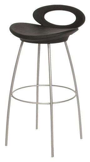 Modern Chair/Stool w Contoured Seats & Backs, Steel Frames - Choose Color & Size