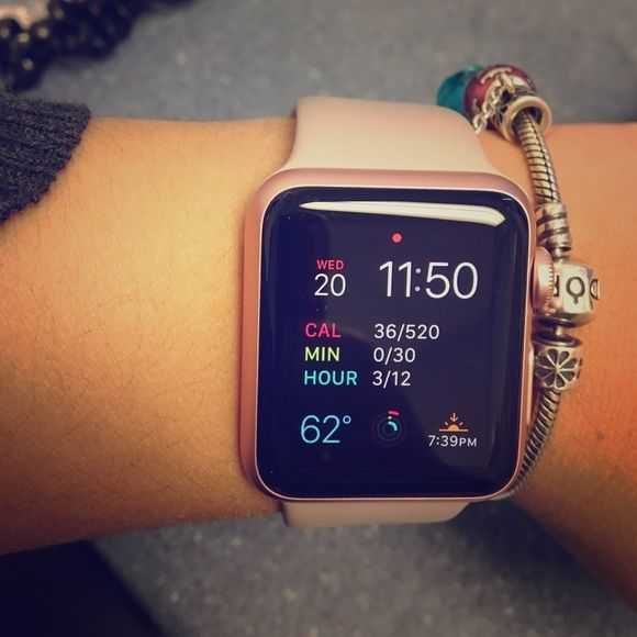 Apple sport watch rose gold Apple sport watch rose gold only used for one month or less. Accessories Watches