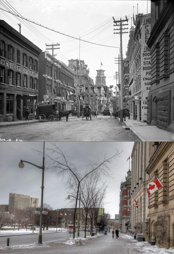 Elgin and Sparks, Ottawa. 1901 - 2012.