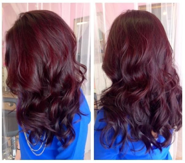 Mahogany red / auburn hair