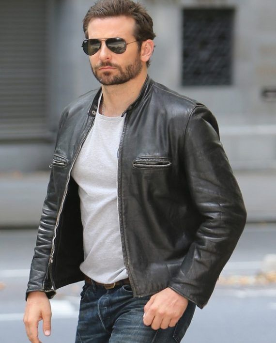 ea7dad5e6 Bradley Cooper Burnt Jacket | Men's style in 2019 | Leather jackets ...