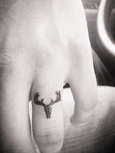Wedding Ring Tattoo...I can't wear jewelry so this is an option!! my hubby loves to hunt.....