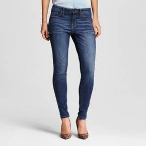 Women's Mid-rise Skinny Jeans Dark Wash - Mossimo™ : Target