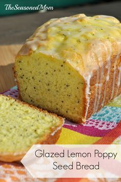 Easy Glazed Lemon Poppy Seed Bread on MyRecipeMagic.com: This simple quick bread could not be easier to make! It starts with a box of lemon cake mix and takes only minutes to prepare, but this delicious treat is moist, sweet, and full of fresh citrus flavor!