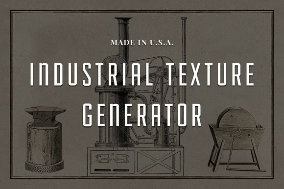 Industrial Texture Generator PSD by Adrian Pelletier on Creative Market