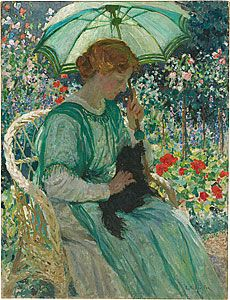 W. Phillips Fox  The Green Parasol 1912  NGA