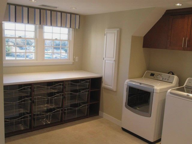 Interior Design By Fresh Cape Designs Laundry Folding Table By Expert Closets Traditional Laundry Room Boston By Expert Closets Nancy Langway