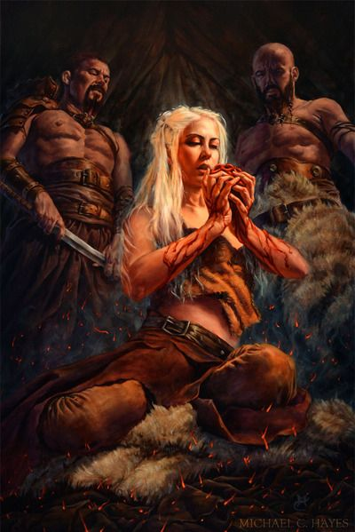 Game of Thrones - Daenerys Targaryen by Michael C. Hayes*