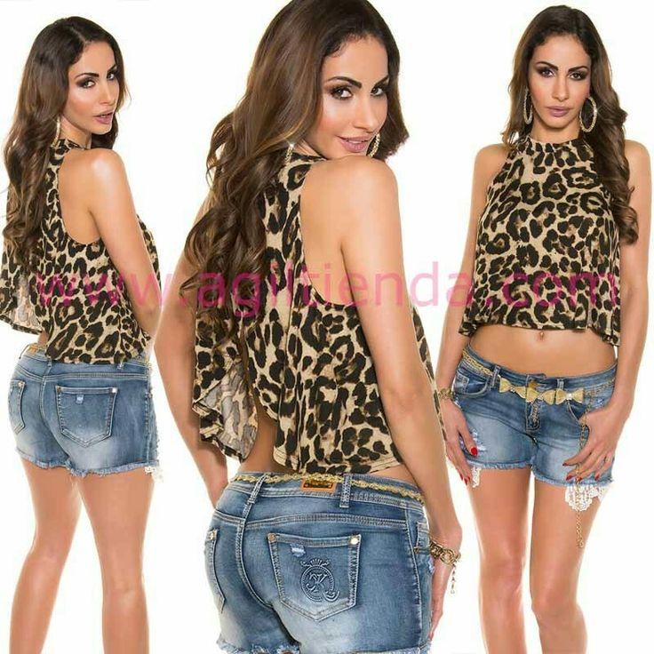 #Sensual #top #leopardo #animalprint #mujer #diseño #sinmangas #holgado y #vaporoso con llamativo #escote abierto en la #espalda de #estilo muy juvenil y #desenfadado para #complementar con todo tu #armario en todas las epocas de año con #efecto #chic y #sexy . Encuentralo en http://www.agiltienda.com/es/home/2402-top-holgado-sin-mangas.html #online #shop #taradell @agiltienda.es