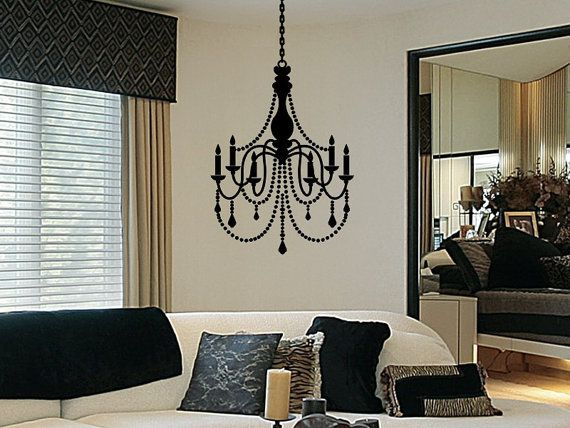 34 best wall decal images on pinterest wall decal wall decals chandelier decal vinyl chandelier wall decal by vgwalldecals mozeypictures Images