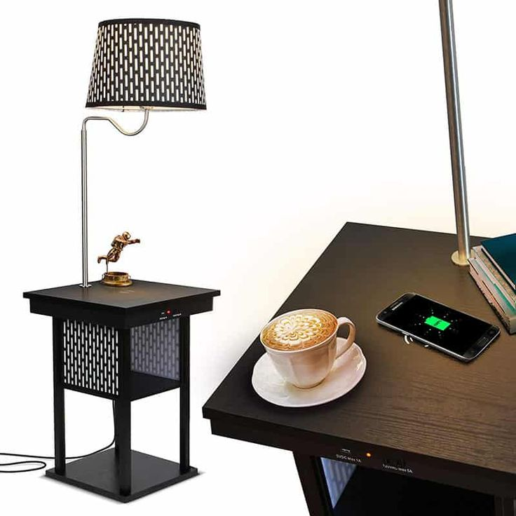 2 in 1 Floor Lamps with Shelves for Living Room or