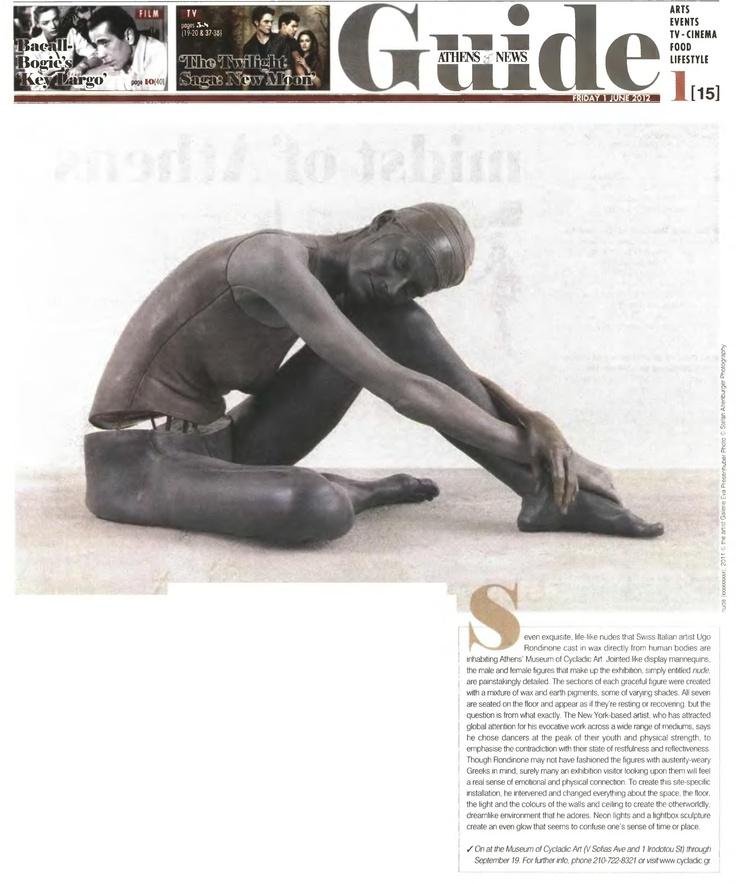 Ugo Rondinone. Athens News