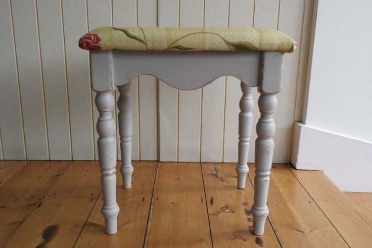 Shabby Chic Styled Small Dressing Table Stool  / Foot Stool.
