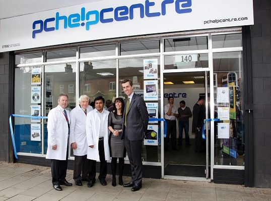 pchelpcentre team at new store opening 2013