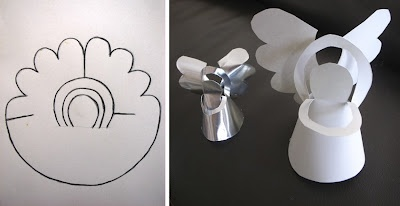 An angel made of paper and without any glue with printable TEMPLATE