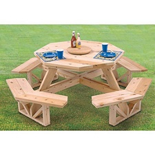 Octagon picnic table pattern woodworking projects plans watchthetrailerfo