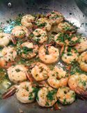Made this last night and served with fresh bread.  Soo Yummy Shrimp with Garlic, Lemon and White Wine