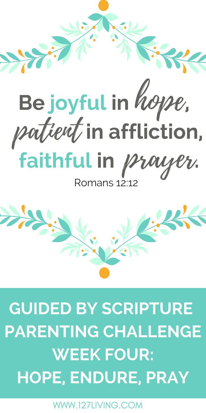 #Hope, #endure, #pray - Guided by #Scripture #Parenting Challenge!