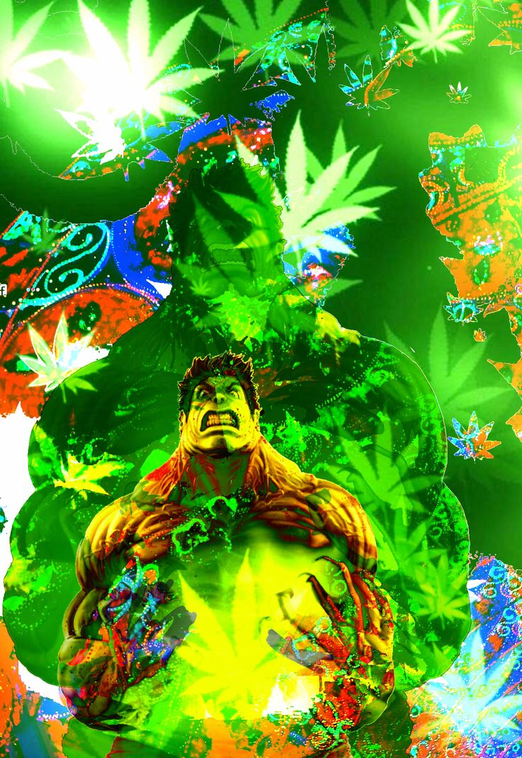 Weed Power ! You won't like while I get HIGH ! () original image of the Hulk from whoodie.com