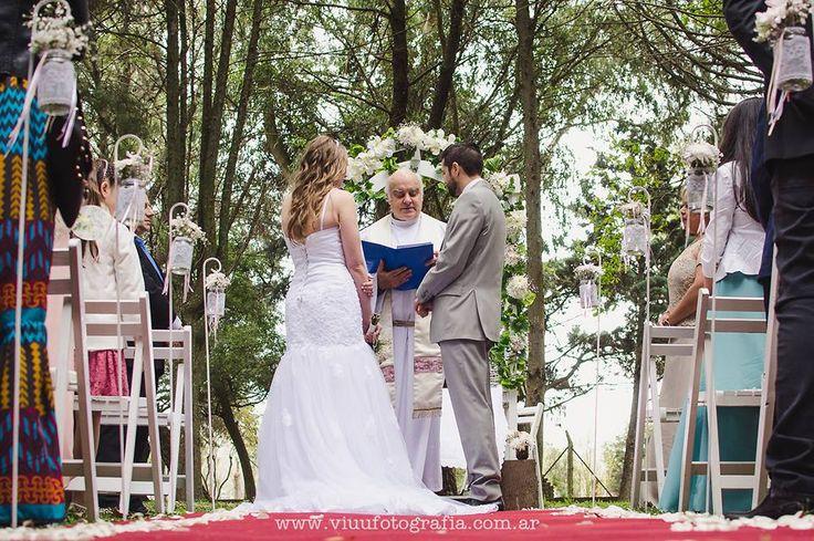 Ceremonia al aire libre...