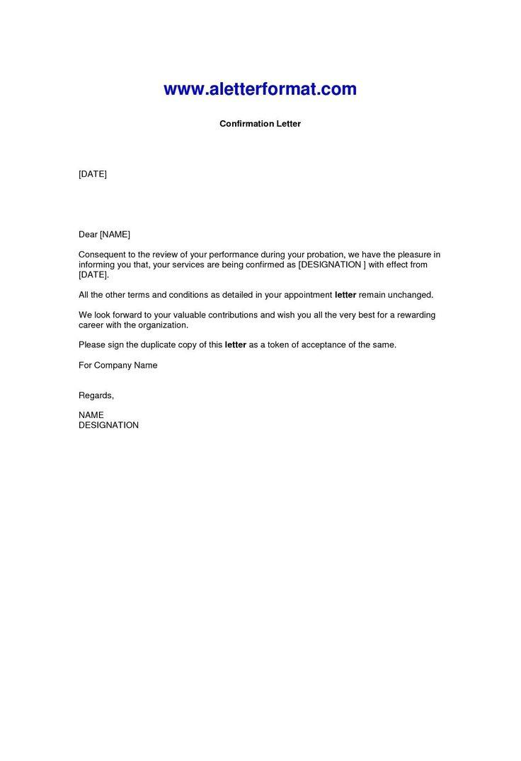 38+ Confirmation letter sample pdf trends