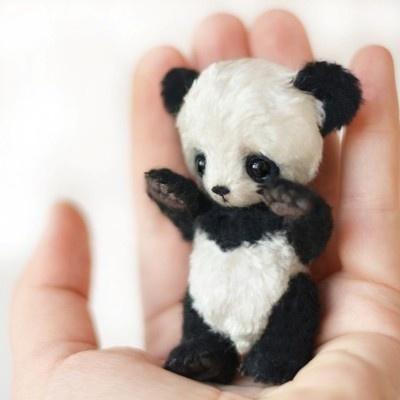 Gorgeous handmade mini panda by Catherine Bespalova. Ebay id: bespalovaekaterina