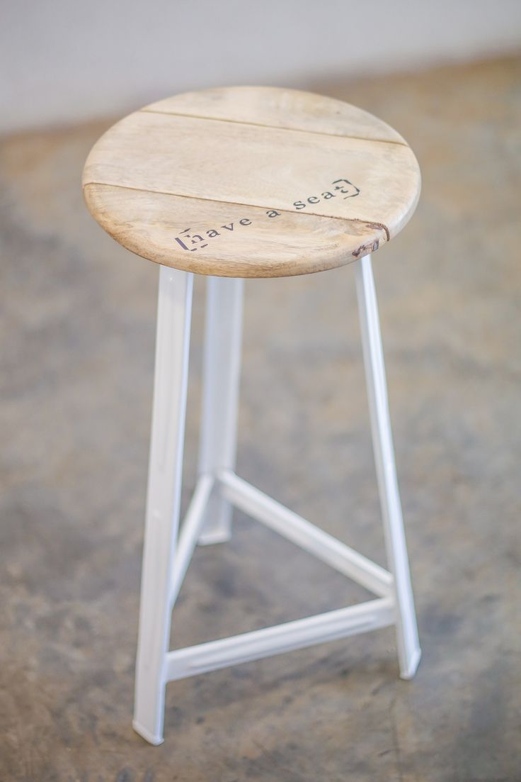 White Leg Bar Stool from APlace