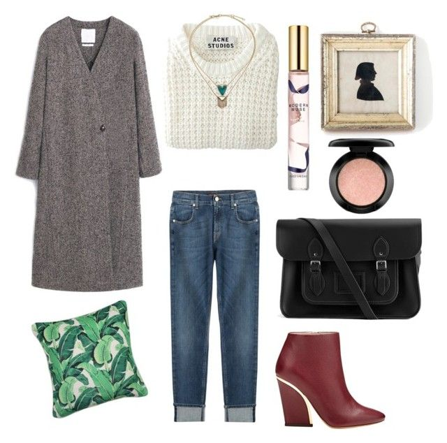 by betti-nyilas on Polyvore featuring polyvore, fashion, style, Acne Studios, MANGO, 7 For All Mankind, Chloé, The Cambridge Satchel Company, Alexis Bittar, MAC Cosmetics and Estée Lauder