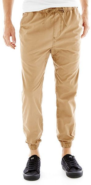 $24, Chino Jogger Pants by Arizona. Sold by jcpenney. Click for more info: http://lookastic.com/men/shop_items/231561/redirect
