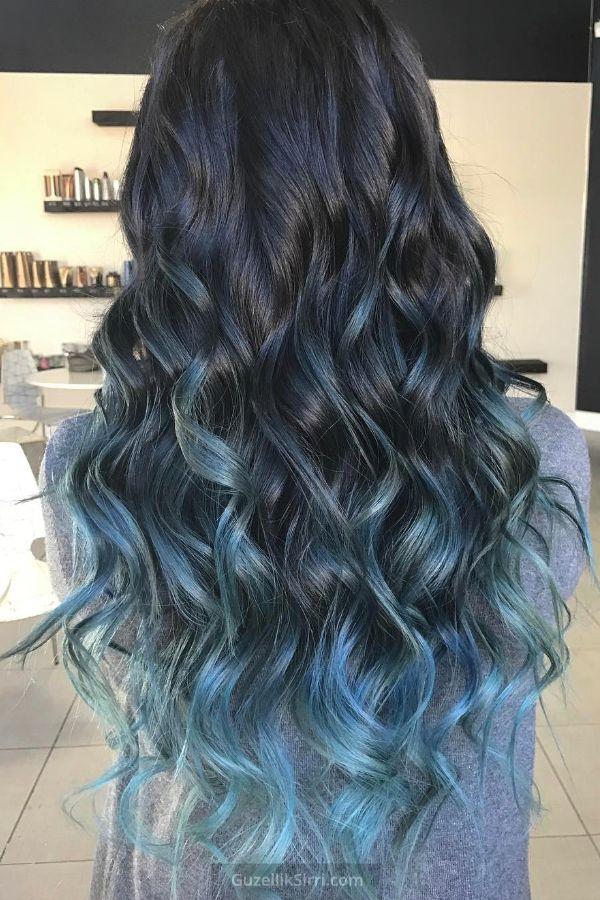 Mavi Ombre Ile Dikkat Ceken Saclar Leylak Sac Mavi Sac Renkleri Mavi Sac Modelleri