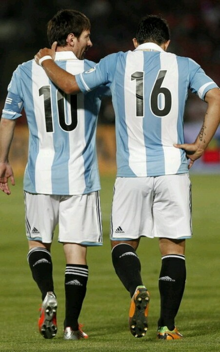 My 2 boyfriends. Lionel Messi & Kun Aguero