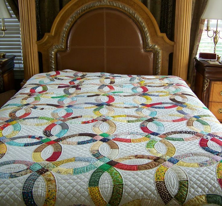 396 best Quilts - Wedding Ring images on Pinterest | Wedding ring ...