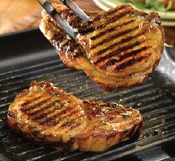 Pan-fried Pork Chops with orange and rosemary
