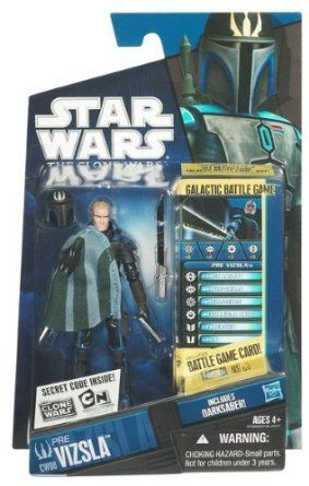 "Star Wars 3.7"" Clone Wars Action Figure - Pre Vizsla: Amazon.co.uk: Toys & Games"