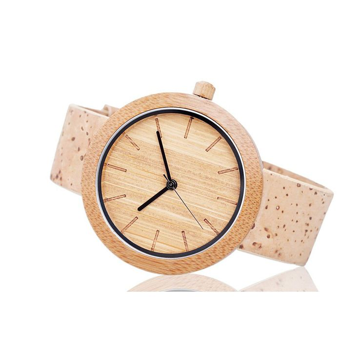 The Panda Watch features a premium minimalist design fused with sustainable elements. Every watch is handcrafted by blending natural materials like Bamboo and Portuguese cork with a Swiss Movement int
