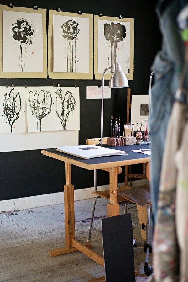 emmas designblogg - design and style from a scandinavian perspective - Swedish artists' studio