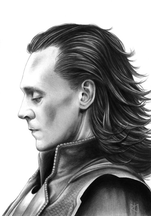 "Tom Hiddleston ""Loki"" Fan Art From http://maneth985.tumblr.com/post/116249058304/d-m-jonas-sherekahnsgirl-creativehiddles"
