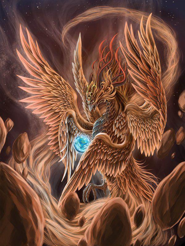 Legend of the Phoenix Bird | Fire bird by ~SpaceWeaver on deviantART