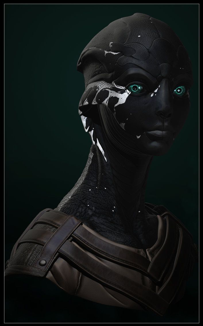 A female drell. Design based off of ME2-3's Thane, naturally. Zbrush and Photoshop and enough trial and error to choke a horse.