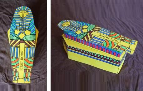 Papermau Easy To Build Egyptian Sarcophagus Paper Model
