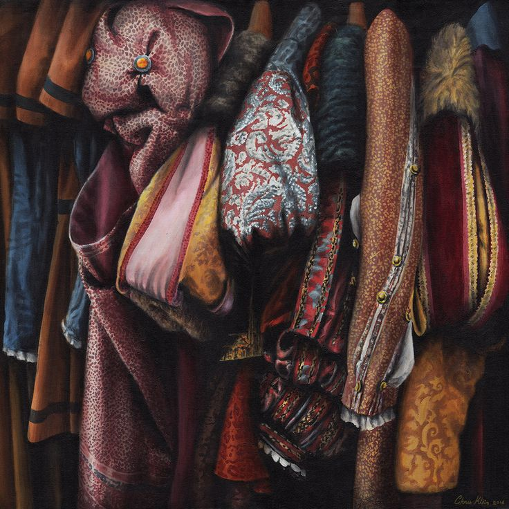 Costumes from the Stratford warehouse No19 Acrylic on canvas, 85x85 cm SOLD