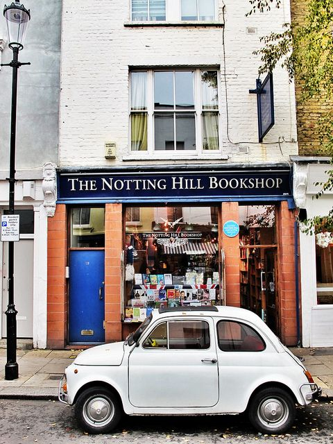 "The Notting Hill Bookshop - 13 Blenheim Crescent, Notting Hill, London. Famous place from the movie ""Notting Hill""."