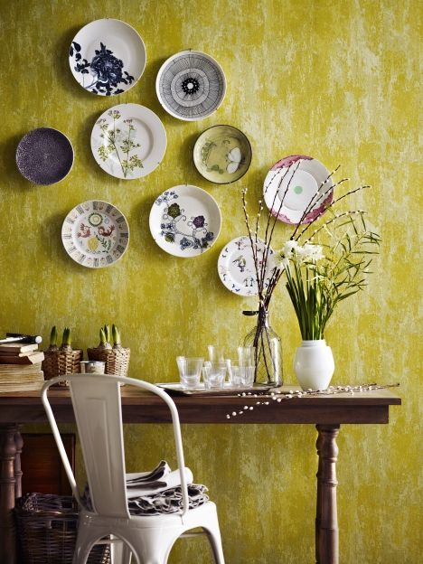 64 best Plates on the wall images on Pinterest | Dishes, Decorative ...