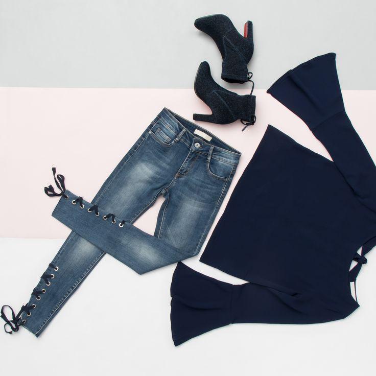 INSPIRATION ✔️ #fashion #lookbook #guts #style #outfit #denim #jeans #outfitstyle #fashionstyle #fashionstyle #blue #highheels #inspiration #love