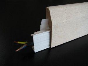 Plinthe électrique clipsable placage chêne - vue 1