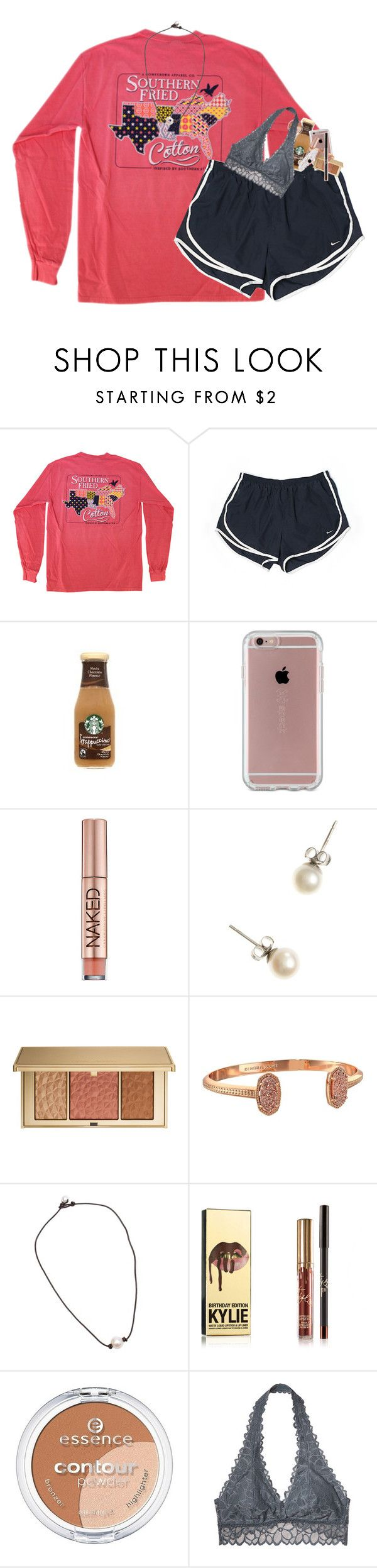 """i don't have school tomorrow bc teacher meetings"" by classynsouthern ❤ liked on Polyvore featuring NIKE, Speck, Urban Decay, J.Crew, Estée Lauder, Kendra Scott, Essence and Victoria's Secret"